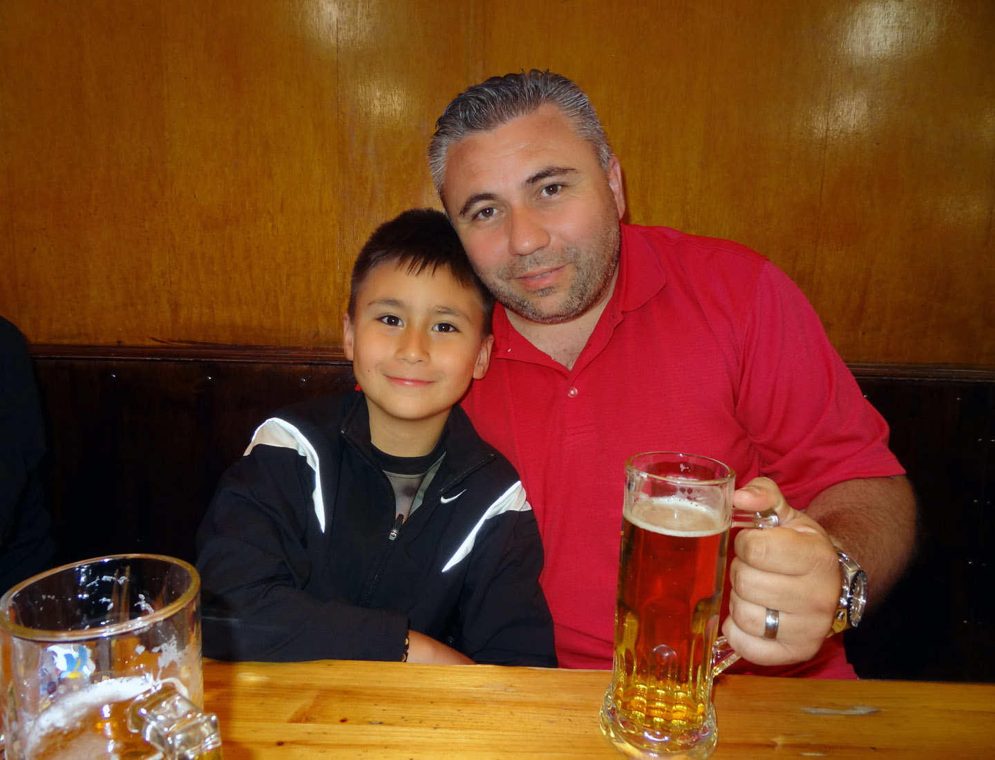 Andrei enjoying a Beer, 2015 Tamas Central Europe – Germany – Frankfurt