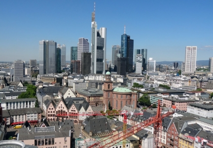 Frankfurt view from Kaiserdom Sankt Bartholomäus (Frankfurt Cathedral)