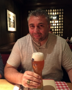 Andrei enjoying a Beer