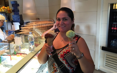 Gelato (Ice Cream) at Von Bol & Feste Bakery (Since 1890), Largo Cairoli, Milan Italy 2015