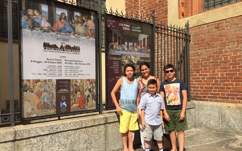 Leonardo da Vinci's The Last Supper (Il Cenacolo) at the Basilica di Santa Maria delle Grazie, Milan Italy 2015