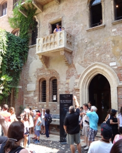 Romeo and Juliet Balcony, n° 23 of Via Cappello, Verona, Italy 2015