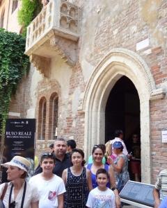 Romeo and Juliet Balcony, n° 23 of Via Cappello, Verona, Italy 2015