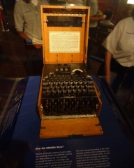 Enigma Machine at the The National WWII Museum, New Orleans USA