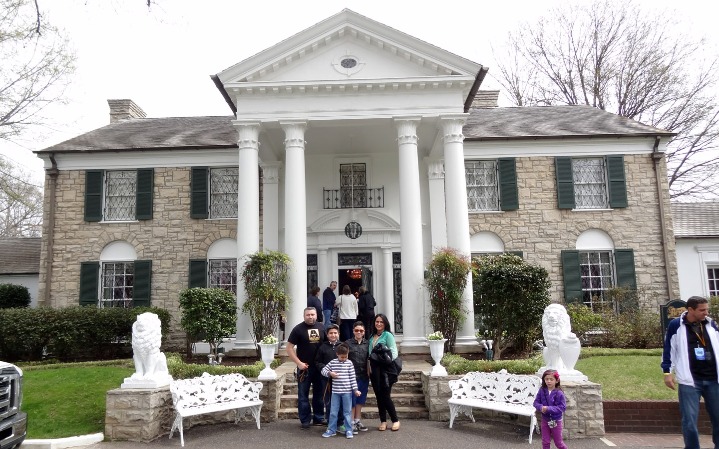 Elvis Presley's home in Graceland, Memphis, Tennessee USA 2014