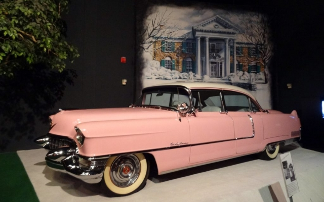 Elvis Presley's Pink Cadillac in Graceland, Memphis, Tennessee USA 2014