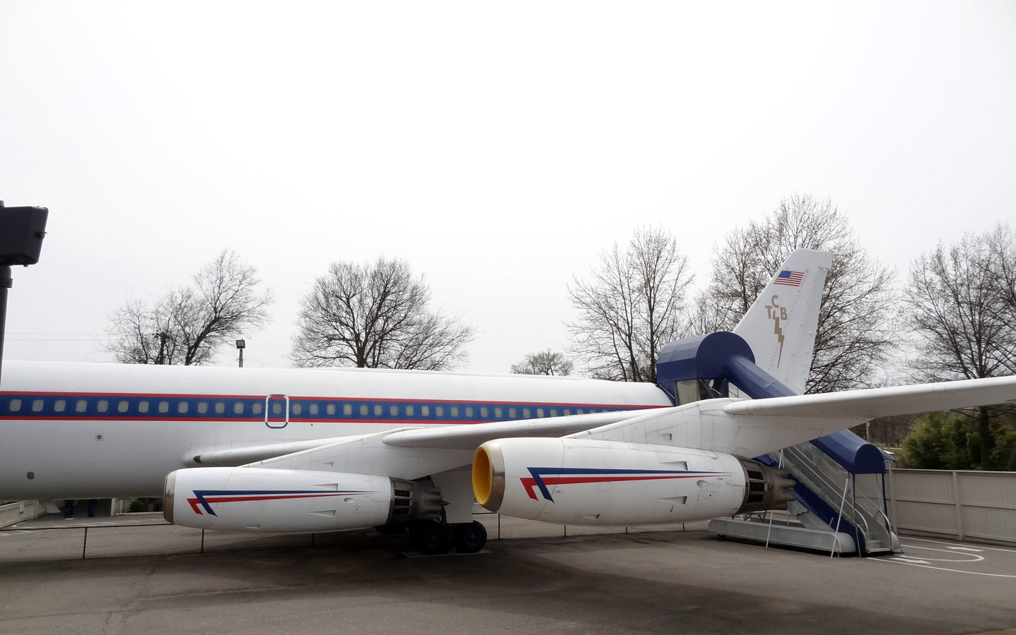 Elvis Presley's plane in Graceland, Memphis, Tennessee USA 2014