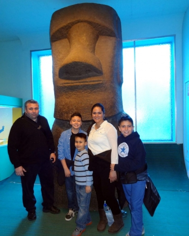 Easter Island Head, American Museum of Natural History, New York, USA 2014