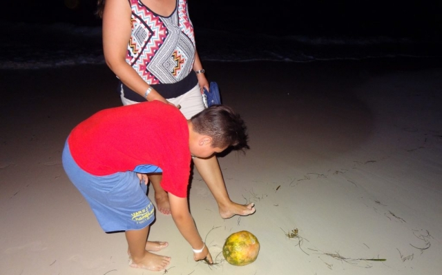 2016 Dominican Republic- Punta Cana - Alicia and Ethan Tamas on the beach at night