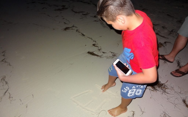 2016 Dominican Republic- Punta Cana - Ethan Tamas on the beach at night