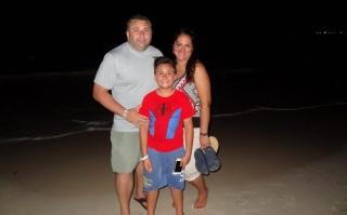 2016 Dominican Republic- Punta Cana - Tamas on the beach at night